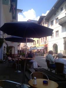 Aleea pietonala din micul orasel german